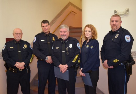 Ellsworth police officers, dispatcher honored at council meeting