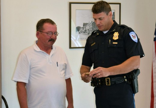 Former officer honored