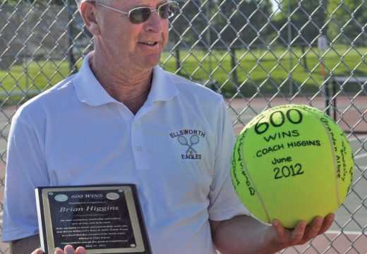 Ellsworth's Higgins receives coaching honor