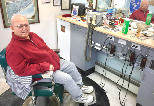 Jack the Barber, battling cancer, hangs up his shears