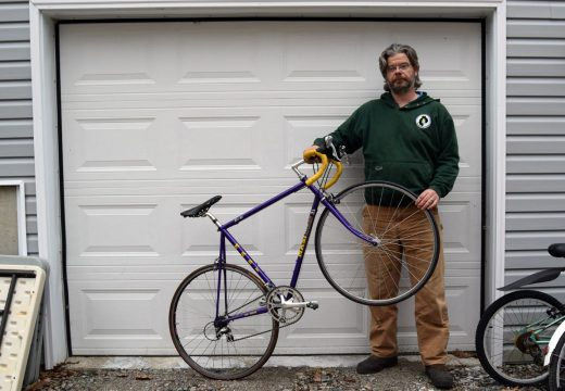 Ken Allen salvages and rehabs bikes to give away