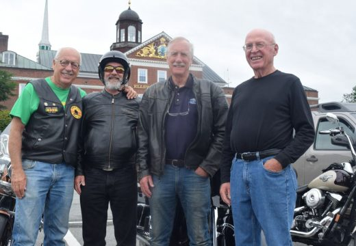 Sen. Angus King tours the territory on his Harley