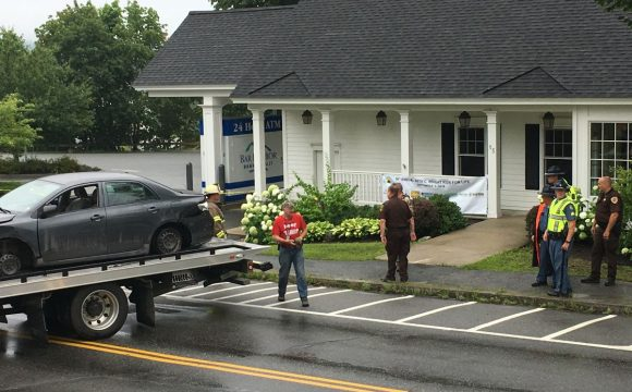 Two-county car chase ends in Blue Hill with gunfire