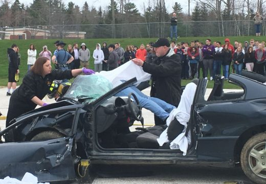 Mock crash shows Bucksport students real tragedy of traffic accidents