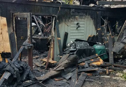 Lightning starts fire that destroys Lamoine home