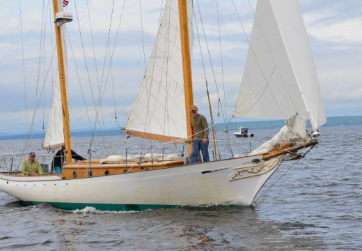 Falcon scores the trifecta in 68th Maine Retired Skippers Race