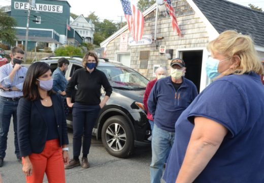 Sara Gideon meets with lobstermen in Stonington